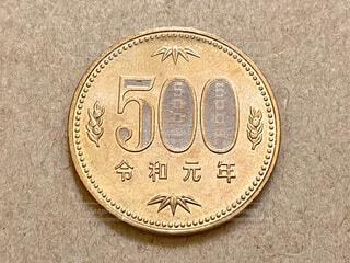 令和元年の500円硬貨の写真・画像素材[4605202]