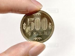 令和3年の500円硬貨の写真・画像素材[4653844]