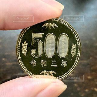 令和3年の500円硬貨の写真・画像素材[4665857]