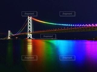 明石海峡大橋 レインボーの写真・画像素材[4807944]