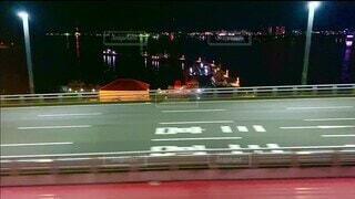 夜の神戸大橋の写真・画像素材[4783933]