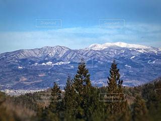残雪の蔵王山の写真・画像素材[1080430]