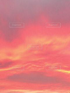 真っ赤な夕焼けの写真・画像素材[1310560]