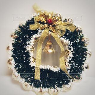 可愛いクリスマスリースの写真・画像素材[1678529]