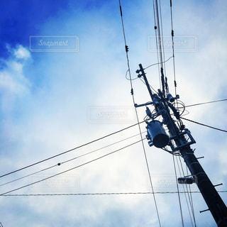 電線の写真・画像素材[678018]