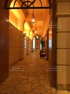 リゾート スパ 玄関 ロビー  廊下 旅行 セレブの写真・画像素材[680164]