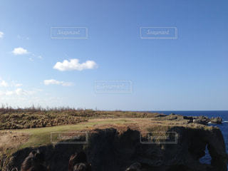 海 水平線 夏 沖縄 青 水 夏休み バカンス リゾートの写真・画像素材[681991]