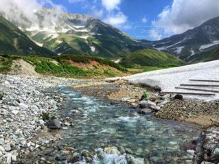 立山の雪どけの写真・画像素材[681655]