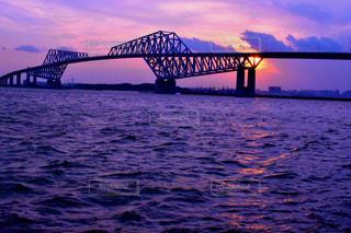東京ゲートブリッチと夕陽の写真・画像素材[731595]
