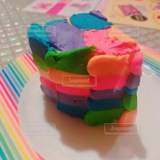 レインボーケーキの写真・画像素材[1022922]