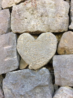ハート石の写真・画像素材[1022555]