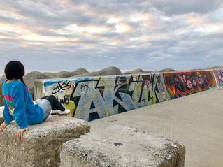 雰囲気のある海岸道の写真・画像素材[1303775]