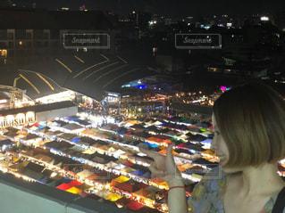 上から屋台を見て見たの写真・画像素材[2423719]
