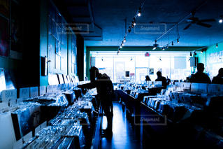 アメリカのレコードショップの写真・画像素材[884550]