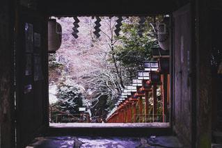 貴船神社の雪景色の写真・画像素材[1020598]