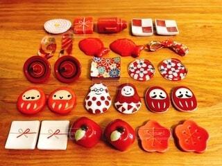 赤い箸置きの写真・画像素材[4073921]