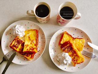 食品とコーヒーのカップのプレート - No.792808
