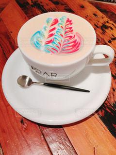 コーヒーのカップとプレートの写真・画像素材[1444103]