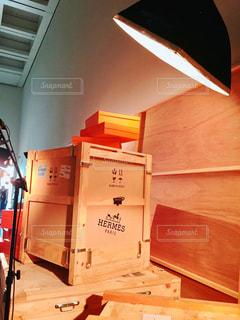 木製の箱の写真・画像素材[1444735]
