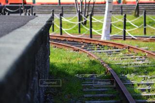 廃線になった線路の写真・画像素材[817644]