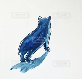 猫の後ろ姿(イラスト)の写真・画像素材[4780083]