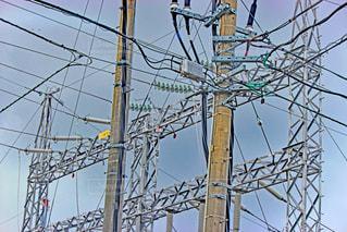 電線と電柱の写真・画像素材[847338]