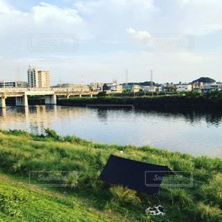 水の体の上の橋の写真・画像素材[787019]