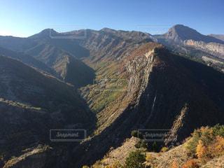 背景の山と渓谷 フランス🇫🇷の写真・画像素材[1448415]
