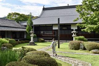家の前の庭の写真・画像素材[1298405]