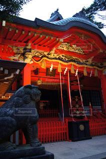 夕暮れの江の島神社の写真・画像素材[1390859]