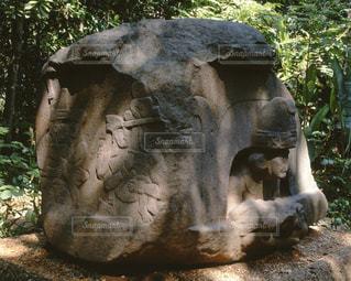 ラ・ベンタ遺跡祭壇の写真・画像素材[717299]