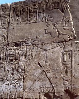 ルクソール神殿のレリーフの写真・画像素材[728108]
