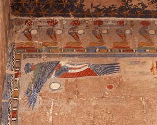 ハトシェプスト女王葬祭殿のレリーフの写真・画像素材[728135]