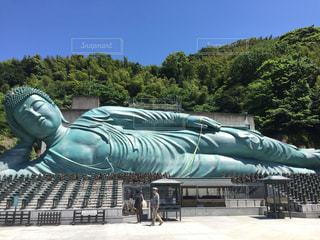 南蔵院の涅槃像の写真・画像素材[692268]