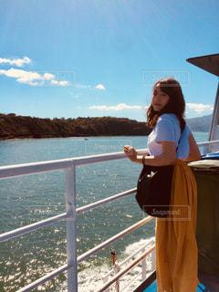 イスキア島へ向かうフェリーでの一枚。の写真・画像素材[773229]