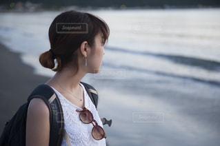 海と横顔の写真・画像素材[692822]