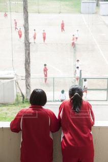 球技大会の応援をする女子高生の写真・画像素材[993385]