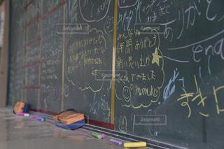 卒業式の日の黒板の写真・画像素材[1092248]
