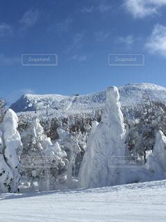雪山の写真・画像素材[695404]