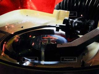 赤と黒のオートバイの写真・画像素材[886930]