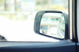 車のサイドミラーの写真・画像素材[1183711]