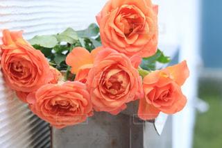 テーブルの上に花瓶の花の花束の写真・画像素材[1243402]