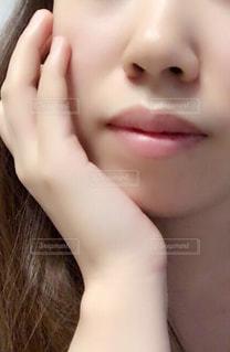 女性のアップの写真・画像素材[871934]