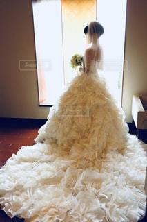 ウェディングドレスの写真・画像素材[1203180]