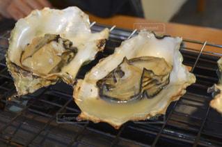 焼き牡蠣の写真・画像素材[1204600]