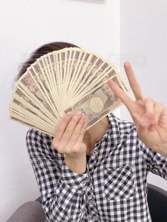 100万円ゲット!の写真・画像素材[4679233]