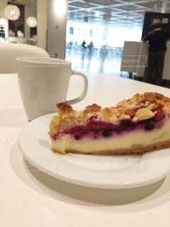 ブルーベリーチーズケーキの写真・画像素材[1489849]