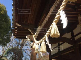 神社の注連縄の写真・画像素材[1736198]