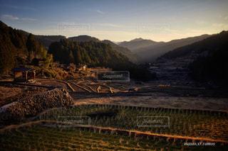 夕日の田園風景の写真・画像素材[1039504]