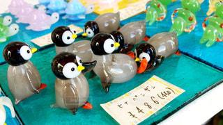ペンギンのガラス細工の写真・画像素材[754612]
